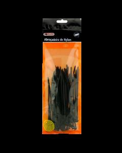 Abraçadeira preto 200mm x 2